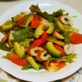 アボカドと竹輪レタスのサラダ