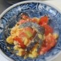 生きくらげとトマトと卵の中華炒め