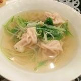 水餃子と水菜の中華スープ