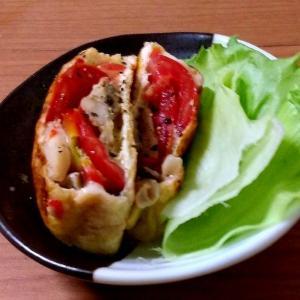 お弁当に☆トマトとしめじのチーズ包み焼き