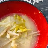 ごま油で炒めて☆キャベツとごぼうの味噌汁
