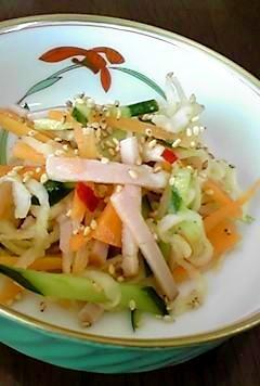 ぱりぱり!切干大根の中華サラダ