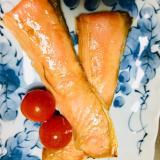 簡単、電子レンジで魚料理!鮭とプチトマト