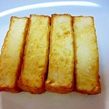 一家揃って妙に、やみつき!厚揚げのバターステーキ