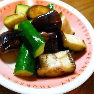胡瓜と茄子の醤油浅漬け