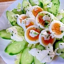 簡単~卵とレタスのヨーグルトサラダ