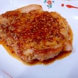 豚ロースステーキめんつゆソース