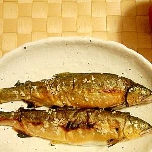 やっぱり、鮎は塩焼きで!