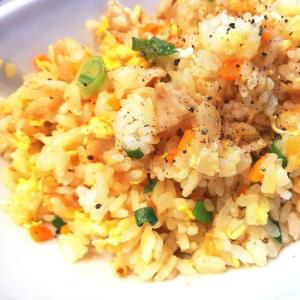 リメイク料理★鶏肉ソテーでチャーハン