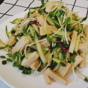 高野豆腐が沢山食べれる中華サラダ♪