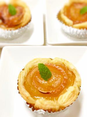 簡単!かわいい!薔薇の花びらみたいなアップルパイ