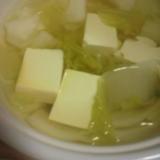 白菜たっぷり湯豆腐