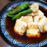 フライパンで簡単♪ 焼き出汁豆腐★