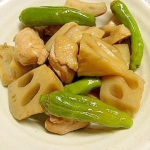 鶏肉とカリカリレンコンの煮物