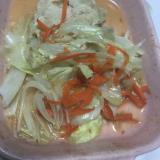 鶏胸肉とキャベツの醤油麹でレンジ蒸し