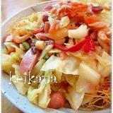 フライパンで簡単☆野菜たっぷり長崎皿うどん