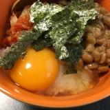 納豆キムチ卵かけご飯