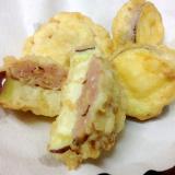 肉のせ*なすの天ぷら