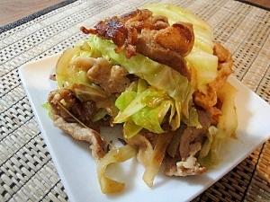 豚バラとキャベツと玉ねぎの味噌マヨ炒め
