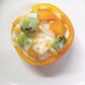 柿カップのフルーツヨーグルト