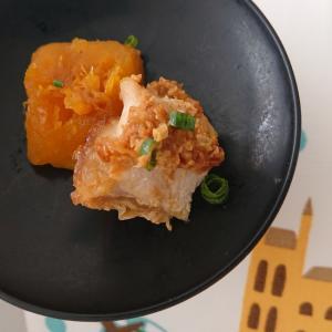 かぼちゃと鶏肉の味噌煮