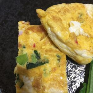 小松菜とカニカマの卵巻き