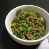 レンズ豆と大根葉の煮物