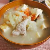 揚げ出し豆腐の豚汁♪♪
