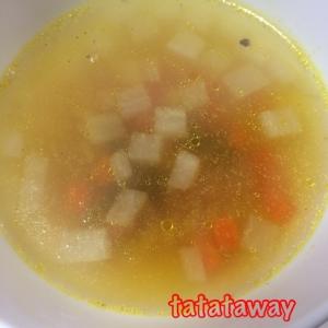 角切り野菜入りカレースープ