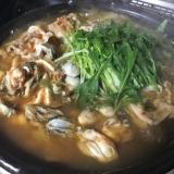 牡蠣と豚肉のキムチ鍋