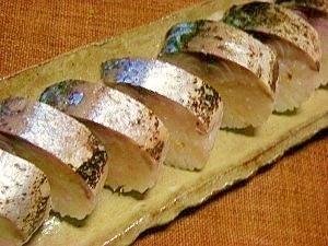 焼きしめ鯖で棒寿司