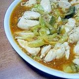 丸美屋の麻婆豆腐の素で♬ささみと野菜の炒め物★