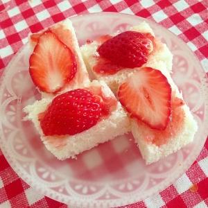 W苺のふわふわパン★