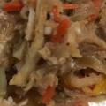 豚ひき肉とたけのこの味噌マヨ炒め