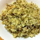 卵と薄揚げとキャベツで高菜チャーハン