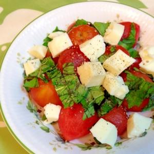 ミニトマトとバジルのサラダ
