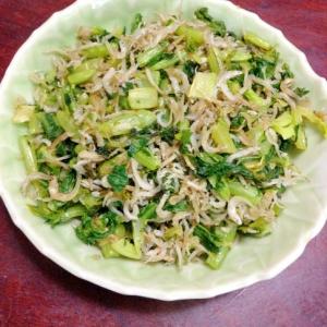 小松菜とシラスのカリカリ炒め@ふりかけ風。