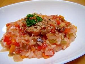炊飯器で簡単トマトリゾット