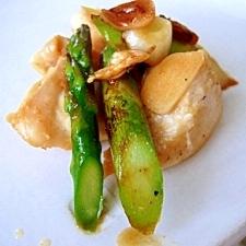 鶏胸肉とアスパラのグレープフルーツ醤油ソテー
