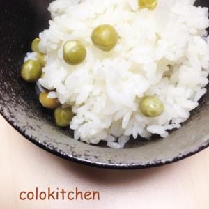 旬の味覚!!豆ご飯~昆布・塩~