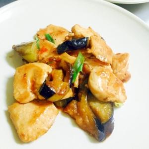 チリソースとポン酢で超簡単!鶏肉となすの炒め物
