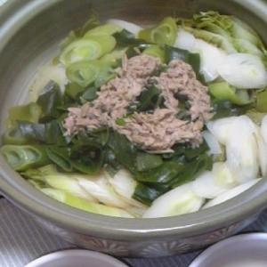 ツナの白菜鍋♪
