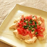 鷄むね肉の紅生姜チーズのせ焼き