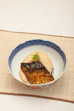 滋賀県長浜の郷土料理 焼さばそうめん