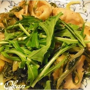 水菜とムネ肉の生姜焼き