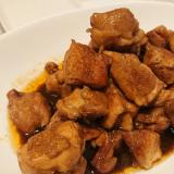 鶏もも肉のウスターソース煮