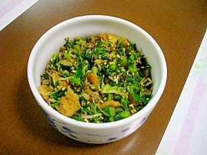 ご飯のおともに *チリメンジャコと大根の葉炒め*