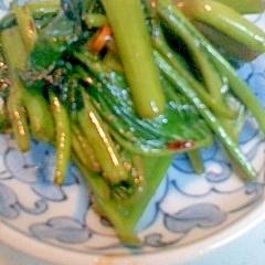 空芯菜のピリ辛炒め