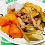 圧力鍋で簡単・時短!親鶏と根菜のピリ辛煮