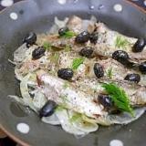 蒸し黒豆とフェンネルのオイルサーディンのサラダ